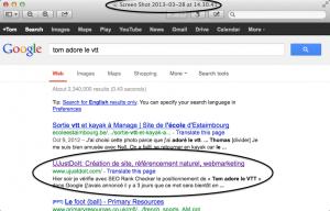 Position 2 dans Google après 2 jours – du booster SEO