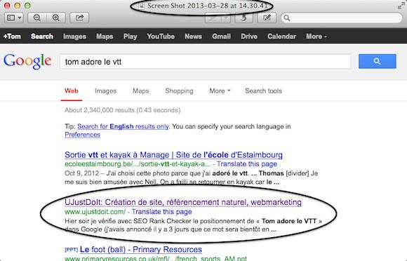 Position 2 dans Google après 2 jours - SEO boost