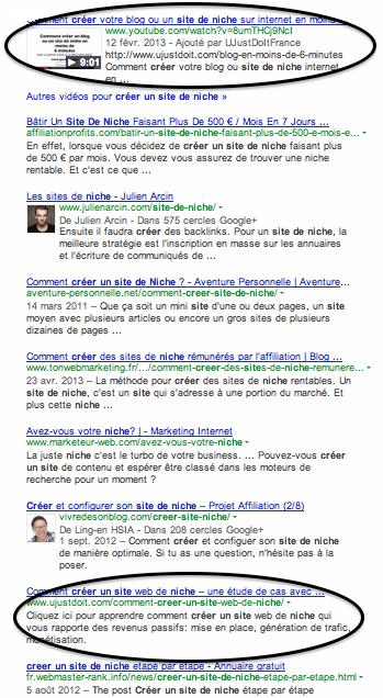 Top 10 dans Google sans bac