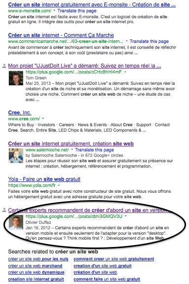 Arriver en page 1 de Google avec resultats personnalisés
