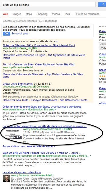 Page 1 dans Google sans backlinking