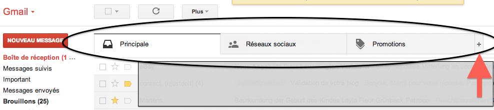 Boite de réception Gmail